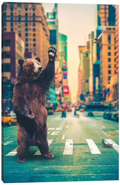 Neck Of Woods Bear NYC Color Canvas Art Print