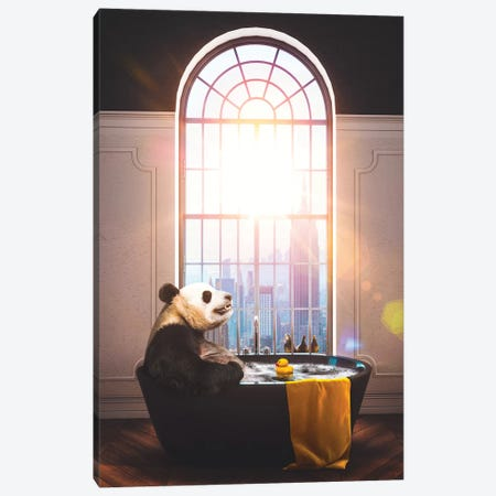 Panda Bath NYC Repose Color Canvas Print #SOA95} by Soaring Anchor Designs Canvas Wall Art