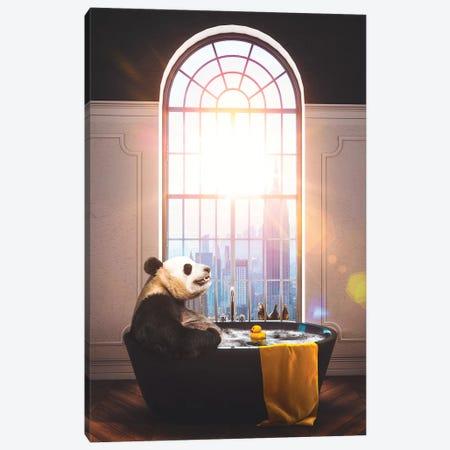 Panda Bath NYC Repose Color Canvas Print #SOA95} by Soaring Anchor Designs Canvas Wall Art
