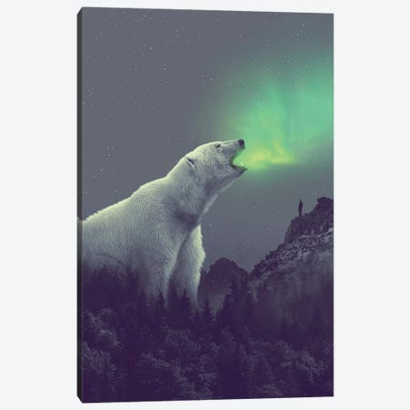 Polar Bear Forest Dipper Canvas Print #SOA96} by Soaring Anchor Designs Canvas Artwork