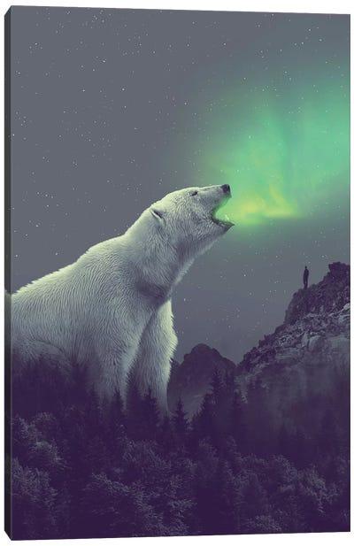 Polar Bear Forest Dipper Canvas Art Print