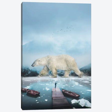 Polar Bear Navigator Canvas Print #SOA97} by Soaring Anchor Designs Canvas Artwork