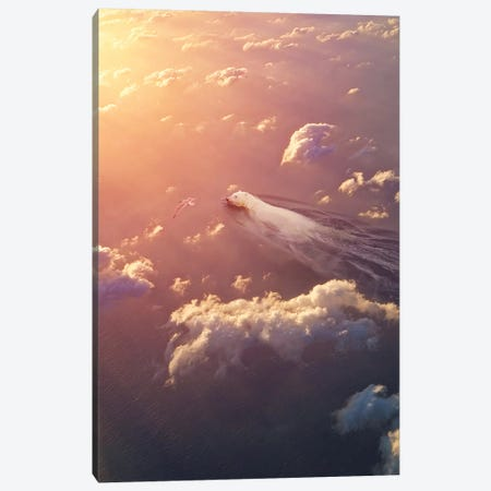Polar Bear Sky Reverie Canvas Print #SOA99} by Soaring Anchor Designs Canvas Art Print