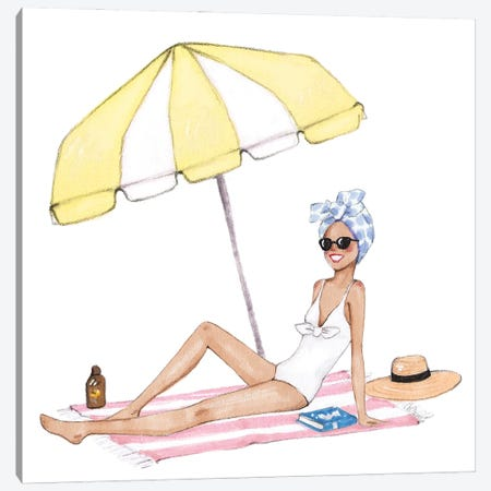 Sunbath Canvas Print #SOB14} by Style of Brush Canvas Art Print