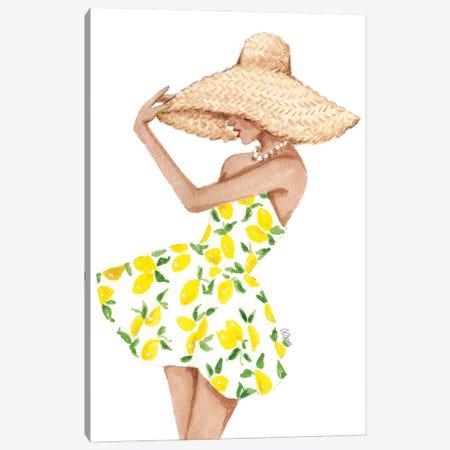 Lemon Dress Canvas Print #SOB21} by Style of Brush Canvas Art Print