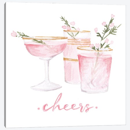 Cheers Canvas Print #SOB23} by Style of Brush Art Print