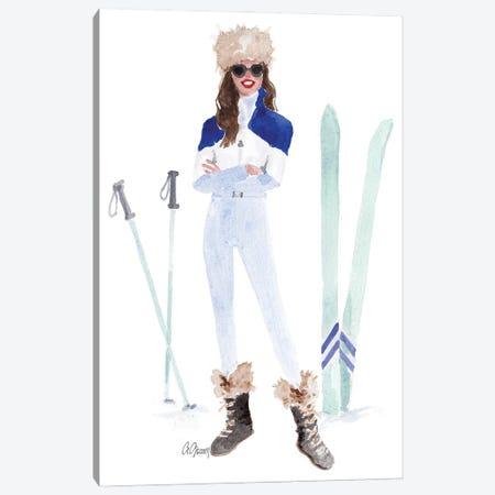 Ski Fashion Canvas Print #SOB25} by Style of Brush Canvas Artwork