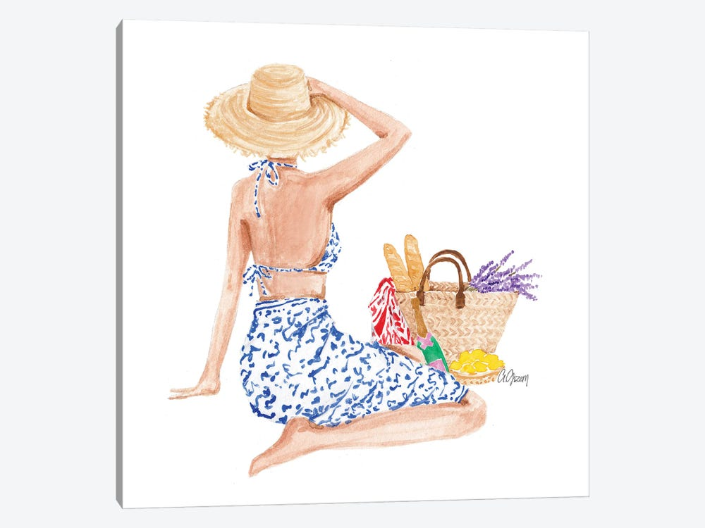 Summer Day by Style of Brush 1-piece Canvas Art