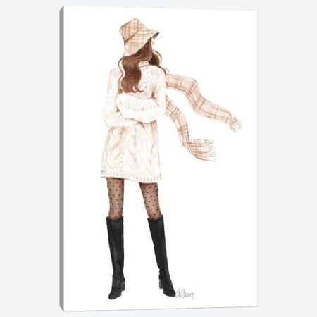 Sweater Dress Canvas Print #SOB42} by Style of Brush Canvas Art Print