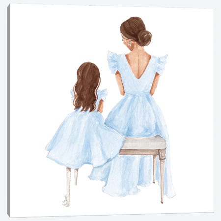 Mommy And Me Canvas Print #SOB59} by Style of Brush Canvas Artwork