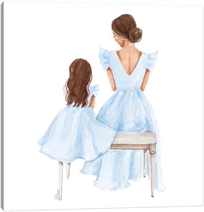 Mommy And Me Canvas Art Print