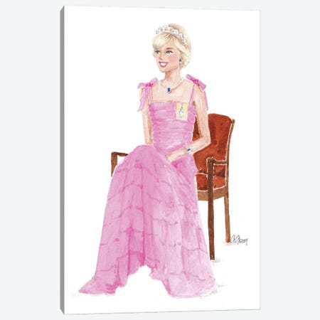 Lady Diana Canvas Print #SOB63} by Style of Brush Canvas Print