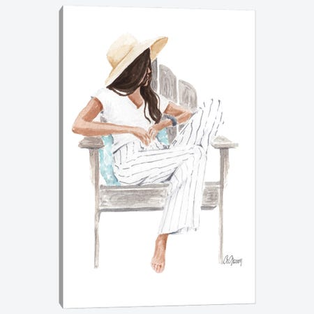 Summer Hat Canvas Print #SOB72} by Style of Brush Canvas Wall Art