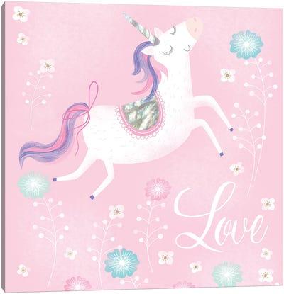 Love Unicorn Canvas Art Print