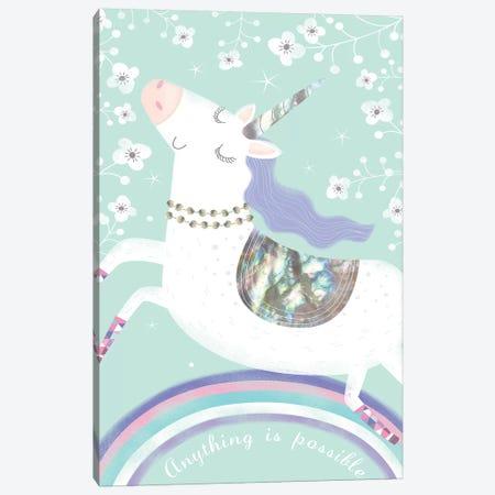 Rainbow Unicorn 3-Piece Canvas #SOH2} by Sophie Hanton Canvas Art Print