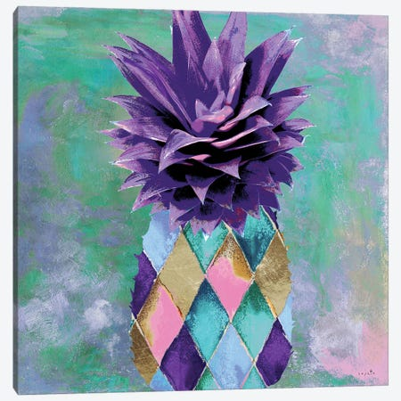 Pineapple Juice I Canvas Print #SOI162} by Sophie 6 Canvas Wall Art