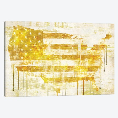American Dream Map I Canvas Print #SOI211} by Sophie 6 Canvas Art