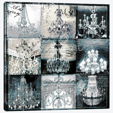 Chandelier Collage Canvas Print #SOI21} by Sophie 6 Canvas Wall Art