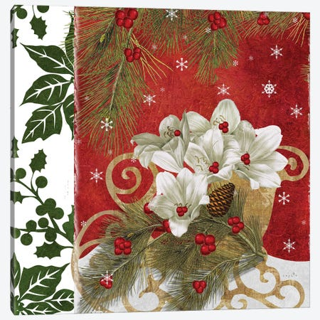 Blooming Christmas Canvas Print #SOI221} by Sophie 6 Canvas Art Print