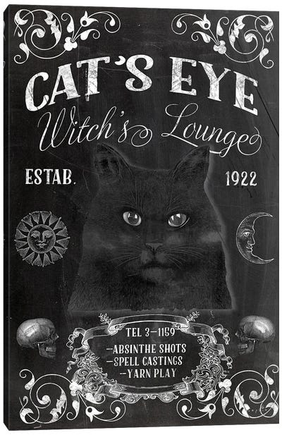Cat's Eye Witch's Lounge Canvas Art Print