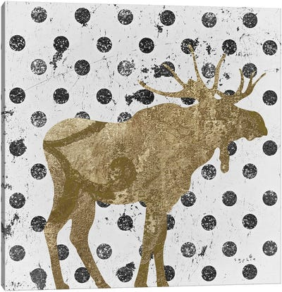 Forest Glam Moose Canvas Art Print