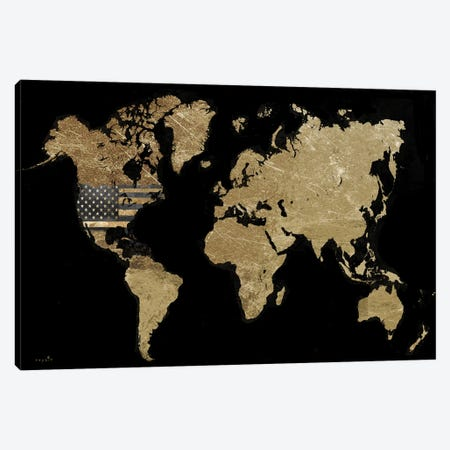 America In the World Canvas Print #SOI87} by Sophie 6 Canvas Art Print