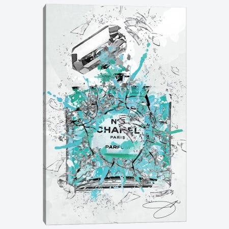 Enough Already In Blue Canvas Print #SOJ101} by Studio One Canvas Artwork