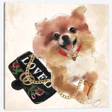 Loved Pom Canvas Print #SOJ119} by Studio One Canvas Print