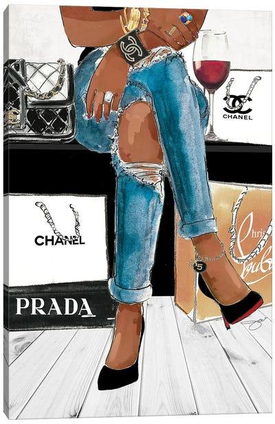 Shopping Day Canvas Art Print