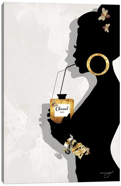Sipping Couture Canvas Art Print