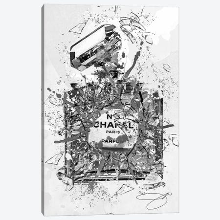 Enough Already Grey Canvas Print #SOJ12} by Studio One Canvas Art