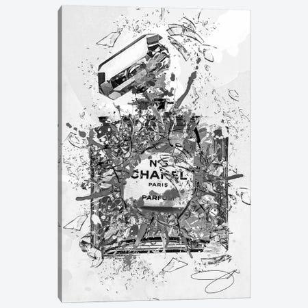 Enough Already Grey Canvas Print #SOJ12} by Studio One Canvas Art