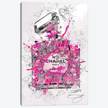 Enough Already Pink Canvas Print #SOJ13} by Studio One Canvas Art