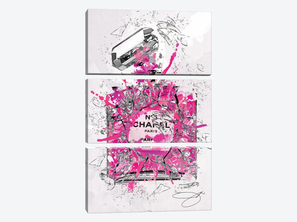 Enough Already Pink by Studio One 3-piece Canvas Print