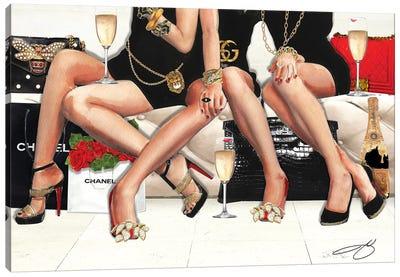 Girls Night Canvas Art Print