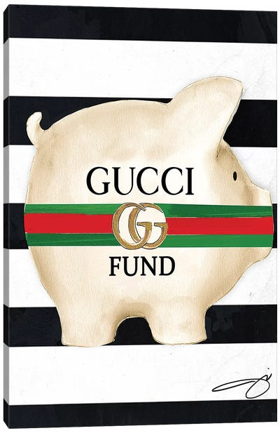 Gucci Fund Canvas Art Print