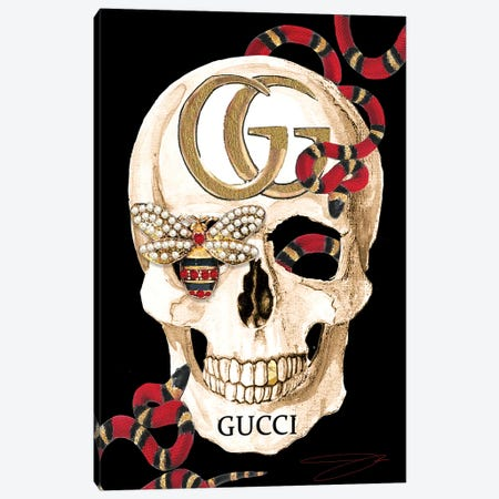 Gucci Skull II Canvas Print #SOJ19} by Studio One by Jodi Canvas Art