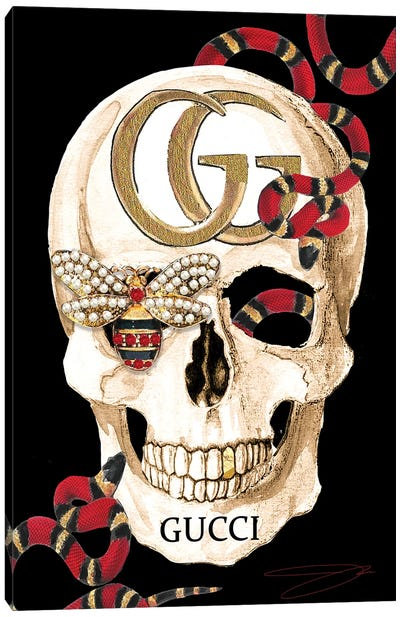 Gucci Skull II Canvas Art Print