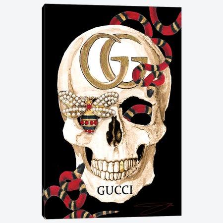 Gucci Skull II Canvas Print #SOJ19} by Studio One Canvas Art