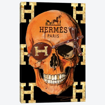 Hermes Skull Canvas Print #SOJ21} by Studio One Canvas Print