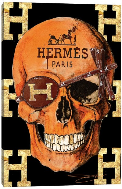 Hermes Skull Canvas Art Print