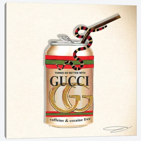 Things Go Better With Gucci Canvas Print #SOJ28} by Studio One Art Print