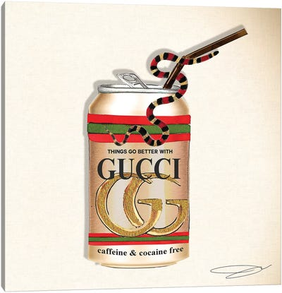 Things Go Better With Gucci Canvas Art Print