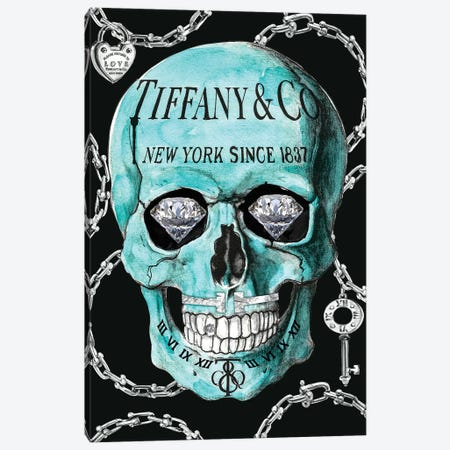Tiffany Skull Canvas Print #SOJ29} by Studio One Canvas Art Print