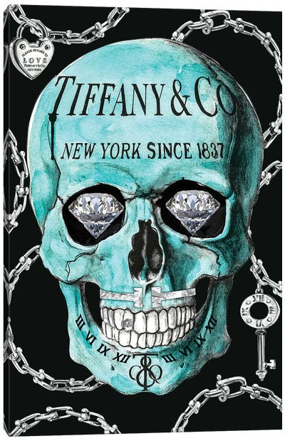 Tiffany Skull Canvas Art Print