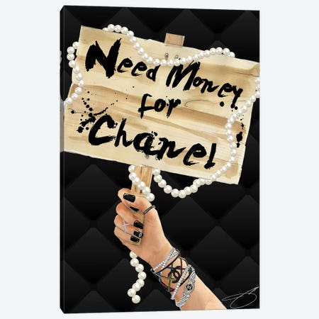 Need Chanel Canvas Print #SOJ33} by Studio One Canvas Wall Art
