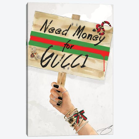 Need Gucci Canvas Print #SOJ34} by Studio One Canvas Print