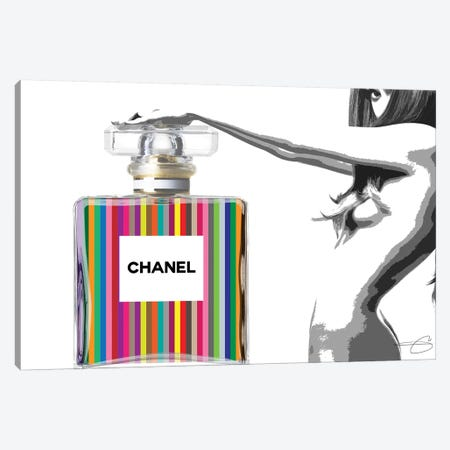 Nothing But Chanel Canvas Print #SOJ37} by Studio One Canvas Art Print