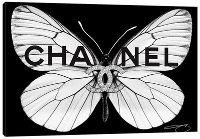 Fly As Chanel Canvas Art Print