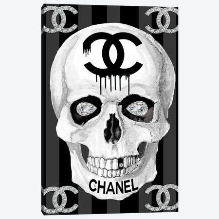 Chanel Skull Canvas Print #SOJ5} by Studio One Canvas Artwork